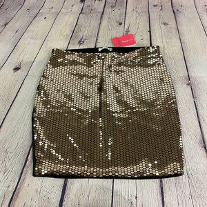 NWT Love Culture Sequins Bodycon Party Mini Skirt
